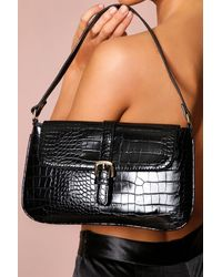 MissPap Buckle Detail Shoulder Bag - Black
