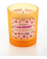 MissPap Mallows Iam Strong Mango Passionfruit Candle - Orange