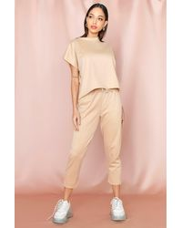 MissPap - Short Sleeve Boxy Loungewear Set - Lyst