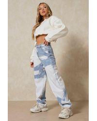 MissPap Cloud Wash Oversized Baggy Jean - Blue
