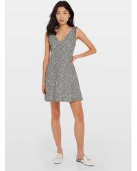 Miss Selfridge Grey Boucle Pinafore Dress