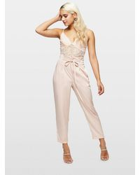 Miss Selfridge Petite Pale Pink Fluid Trousers
