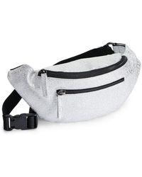 Miss Selfridge - Silver Zip Front Bum Bag - Lyst