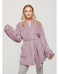 Miss Selfridge Blush Supersoft Robe - Multicolour