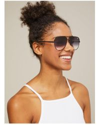 Miss Selfridge - Quay Australia High Key Black Fade Aviator Sunglasses - Lyst