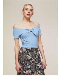 Miss Selfridge - Bunny Tie Crop Top - Lyst