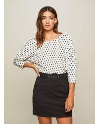 Miss Selfridge - Black Belted Mini Skirt - Lyst