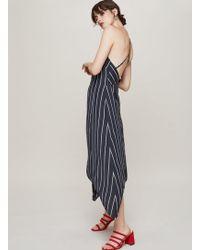 Miss Selfridge - Stripe Hanky Hem Dress - Lyst