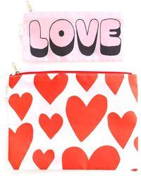 Miss Selfridge Love Heart Carryall Duo