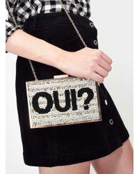 Miss Selfridge Oui Sequin Clutch Bag