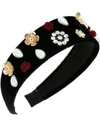 Miss Selfridge - Velvet Embellished Headband - Lyst
