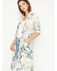 Miss Selfridge - Printed Midi Kimono - Lyst