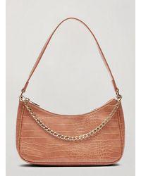 Miss Selfridge Tan Aaliyah Shoulder Bag - Pink