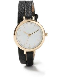 Miss Selfridge - Double Strap Leather Watch - Lyst