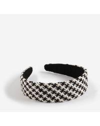 Miss Selfridge Boucle Headband - Black