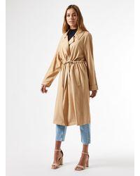 Miss Selfridge Camel Fluid Duster Coat - Natural