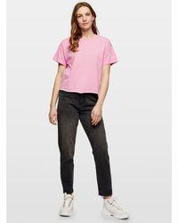 Miss Selfridge Pink Short Sleeve Organic T-shirt