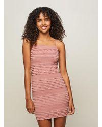 Miss Selfridge - Pink Ruffle Mini Camisole Dress - Lyst