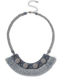 Miss Selfridge - Pom Tassel Fabric Neckilace - Lyst