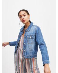 Miss Selfridge Blue Mid Denim Jacket