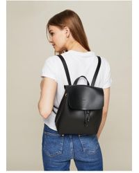 Miss Selfridge - Black Minimal Backpack - Lyst