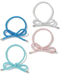 Miss Selfridge - Metallic Bow Multi Pack Hair Bands - Lyst