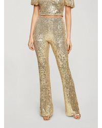 Miss Selfridge Gold Sequin Kickflare Trouser - Metallic