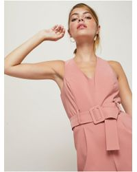 Miss Selfridge - Petite Belted Jumpsuit - Lyst