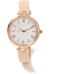 Miss Selfridge - Rose Gold Marble Watch - Lyst