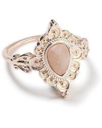 Miss Selfridge - Facet Stone Ring - Lyst