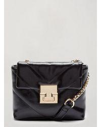 Miss Selfridge Black Auri Quilted Bag