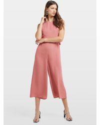 Miss Selfridge Rose Pink Double Layer Jumpsuit