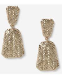 Miss Selfridge Gold Engraved Door Knocker Earrings - Metallic