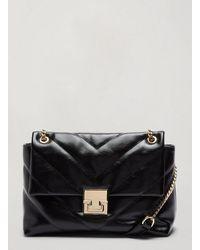 Miss Selfridge Black Aura Belt Chain Bag