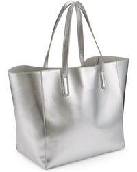 Miss Selfridge - Silver Oversized Unlined Tote Bag - Lyst