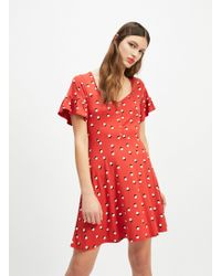 4684a7ac5027 Miss Selfridge Cold Shoulder Ruffle Floral Dress - Lyst