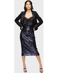 Miss Selfridge Black Sequin Pencil Skirt
