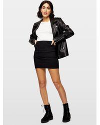 Miss Selfridge Black Button Detail Mini Skirt
