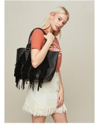 Miss Selfridge - Fringe Tote Bag - Lyst