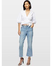 Miss Selfridge White Cotton Wrap Shirt