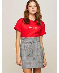 Miss Selfridge   Checked Paper Bag A-line Skirt   Lyst