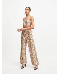 Miss Selfridge Oh My Days Multi Colour Tiger Print Trousers - Multicolour