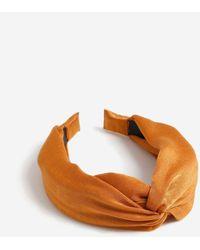 Miss Selfridge Rust Twist Knot Headband - Orange
