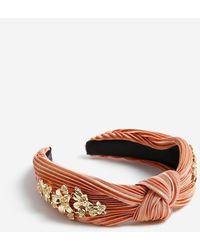 Miss Selfridge Blush Pleated Fabric Headband - Orange