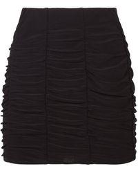 Miss Selfridge Black Ruched Mini Skirt