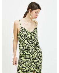 Miss Selfridge Multi Colour Zebra Print Camisole Top - Yellow
