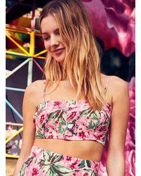 Miss Selfridge Pink 80's Floral Print Bra Top