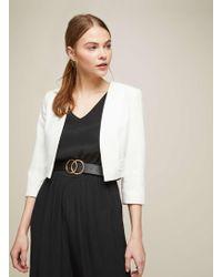 Miss Selfridge   White Pom Pom Trim Jacket   Lyst