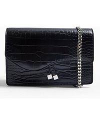 Miss Selfridge Ava Chain Boxy Crossbody Bag - Black