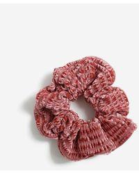 Miss Selfridge Pink Textured Velvet Scrunchies